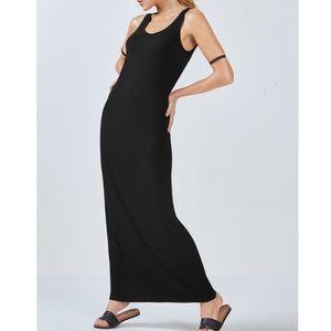 Fabletics Claudia Black Back Cutout Maxi Dress
